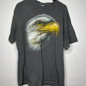 Delta Eagle Patriotic American Graphic Gray T